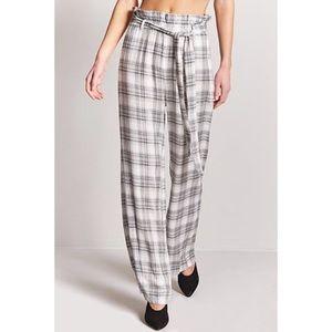 Plaid Wide-Leg comfy pants